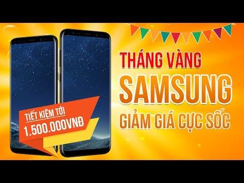 Tháng Khuyến Mãi Samsung- Tặng 1,5 Triệu đồng Cùng Gói Bảo Hiểm Rơi Vỡ