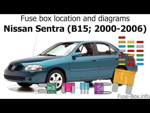 fuse box location and diagrams: nissan sentra (2000-2006) - youtube for 2000 nissan sentra fuse box  youtube