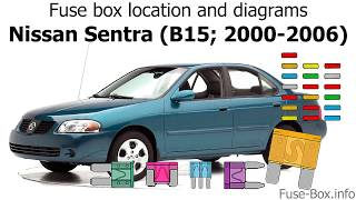 Fuse box location and diagrams: Nissan Sentra (2000-2006) - YouTubeYouTube