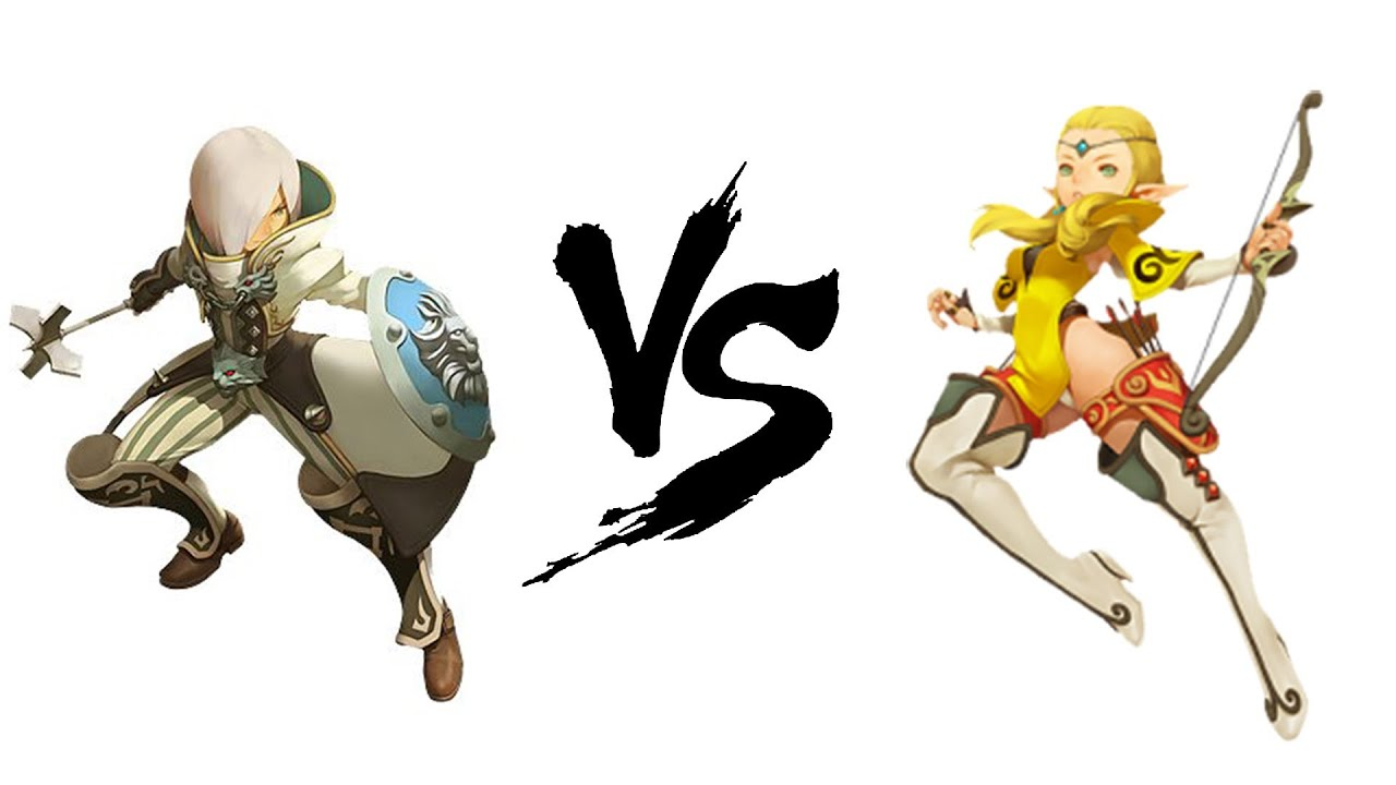 #01 PvP : Acrobat VS Paladin lvl 40 Dragon Nest EU