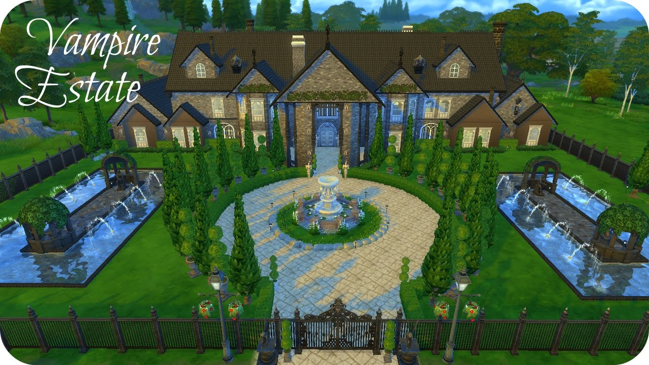 Sims 4 vampires speed build vampire estate youtube for Build me a home