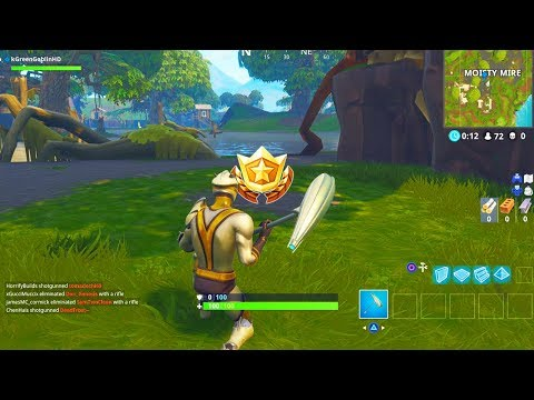 'Fortnite: Battle Royale:' Whe search between a bench