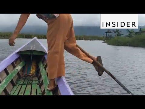 Leg Rowing in Myanmar