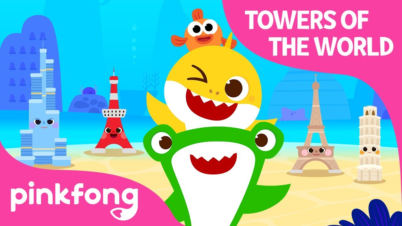 Towers of the World with Baby Shark | Around the World with Baby Shark | Pinkfong Songs for Children
