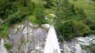 Summer holiday trip 2007: Suspension bridge near Ulrichen