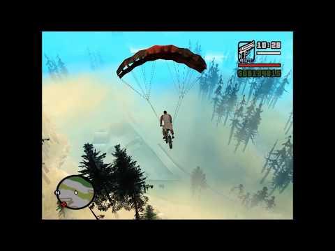 GTA San Andreas - Parachute On Bike Mod - Parachute Bike