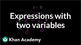 How to evaluate expressions with two variables | 6th grade | Khan Academy