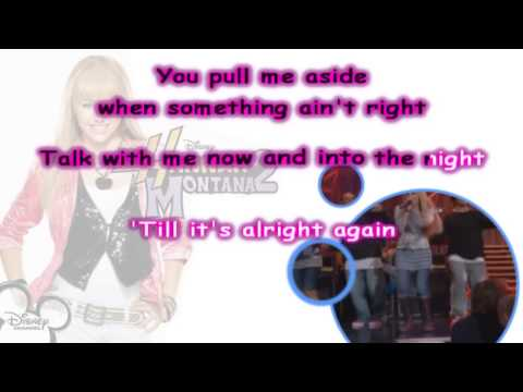 TRUE FRIEND Karaoke   Instrumental)   Hannah Montana 2 Kara