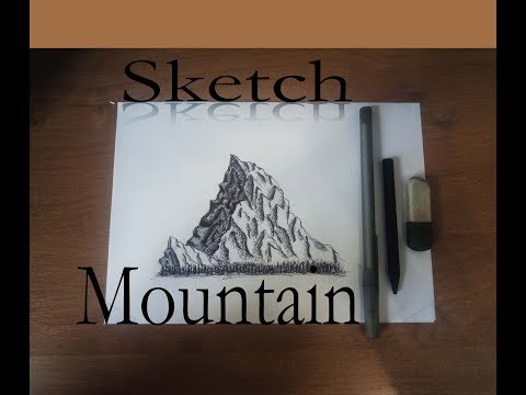 видео: drawing sketch of mountain |  Скетч Горы