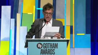 Todd Haynes accepting a Gotham Tribute at the 2015 Gotham Independent Film Awards