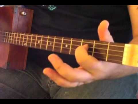 4 String Blues Tricks pt. 1 - How to Play Cigar Box Guitar by Shane Speal