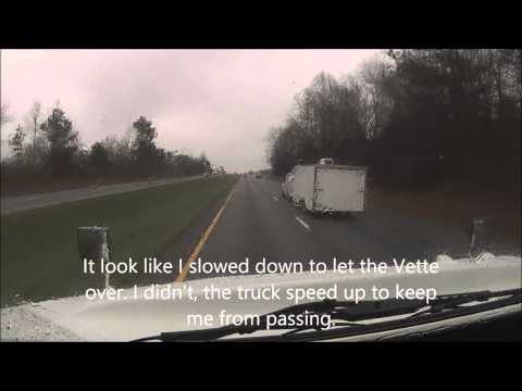 A Driver Of A Corvette Makes An Illegal Turn Then Char