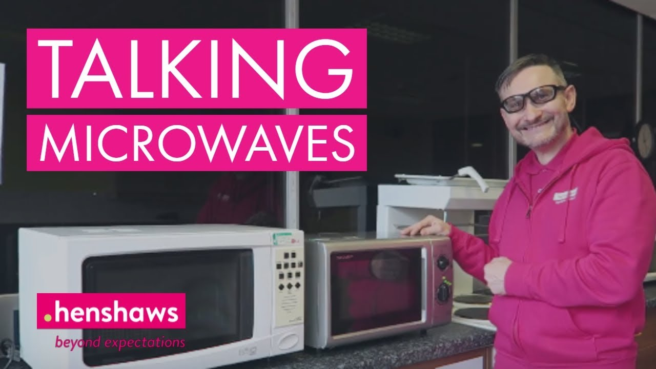 cooking with sight loss using microwaves