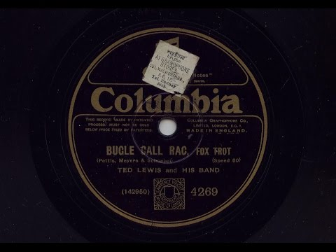 Ted Lewis And His Band 'Bugle Call Rag' Original 1926 80 rpm