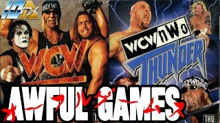 AWFUL GAMES: WCW Nitro and WCW/nWo Thunder (PlayStation)