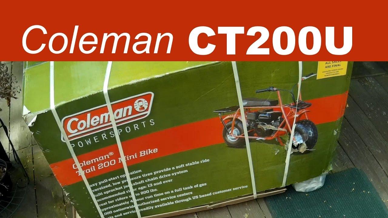 Coleman CT200U Mini Bike | UN-packing