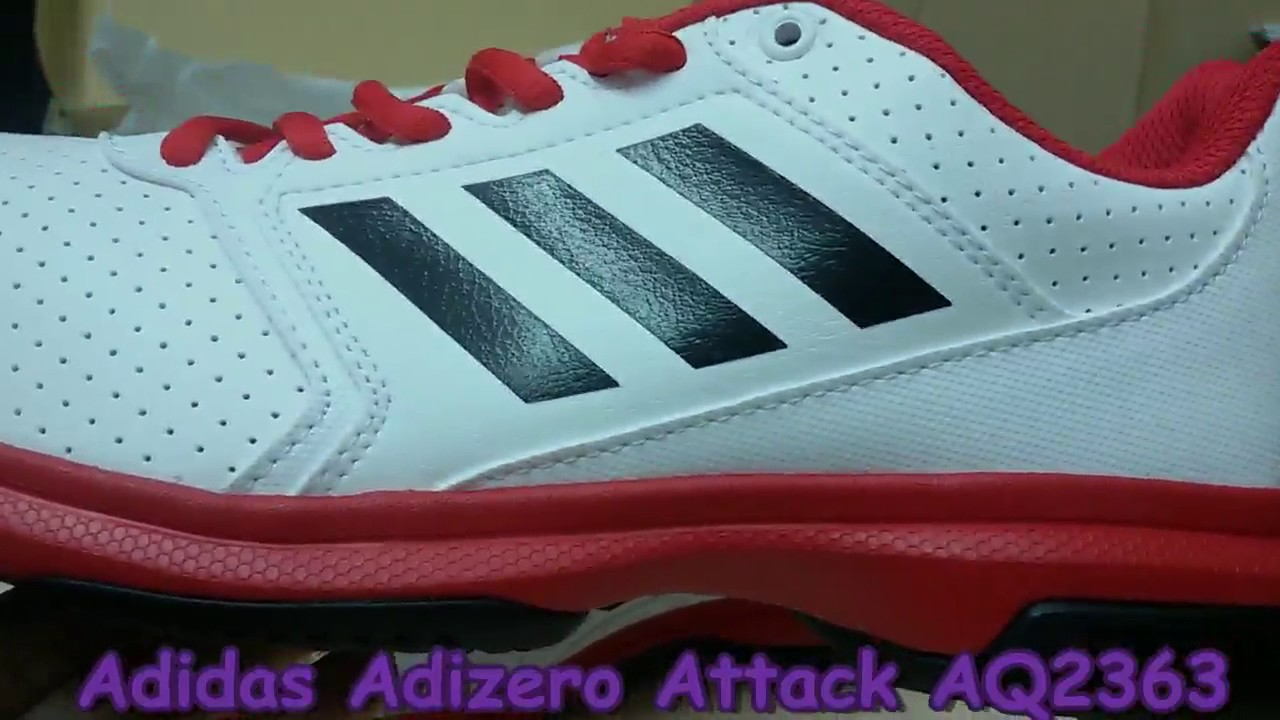wholesale dealer 2bd01 af24c Unboxing Review sneakers Adidas Tennis Adizero Attack AQ2363