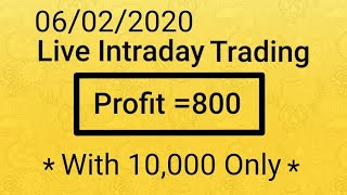Live intraday option trading. Online earning business.