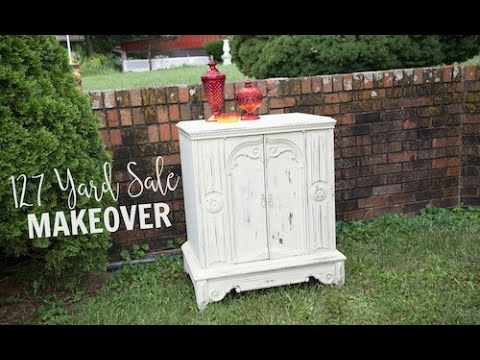 127 Yard Sale Television Stand Makeover with Chalk Paint