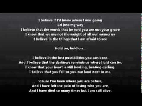 Christina Perri - I Believe lyrics on screen