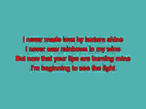 Bobby DarinI'm Beginning To See The Light [karaoke]