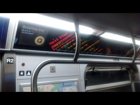 NYC Subway HD: Riding 96 St-2 Av bound R160B Q via the N Line (Coney Island to Atlantic Av) 5/11/17
