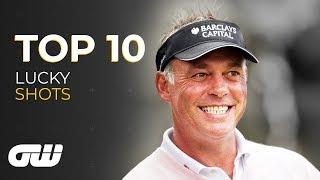 Top 10: LUCKY Golf Shots! | Golfing World
