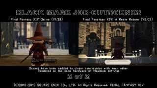 FFXIV V1.0 vs FFXIV V2.0 - The Black Mage Job Cutscenes