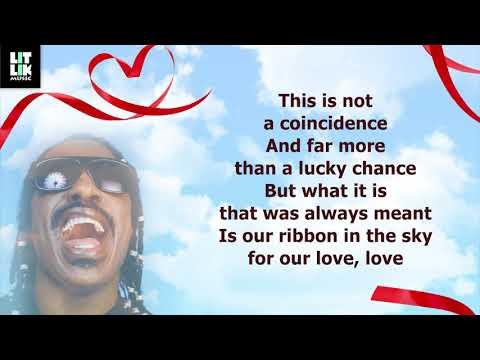 Stevie Wonder - Ribbon In The Sky (Lyrics)