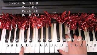How to play Santa Tell Me - Ariana Grande EASY PIANO tutorial Thumbnail