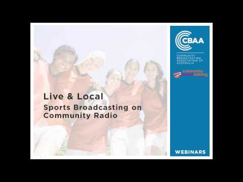 Live & Local - Sports Reporting on Community Radio