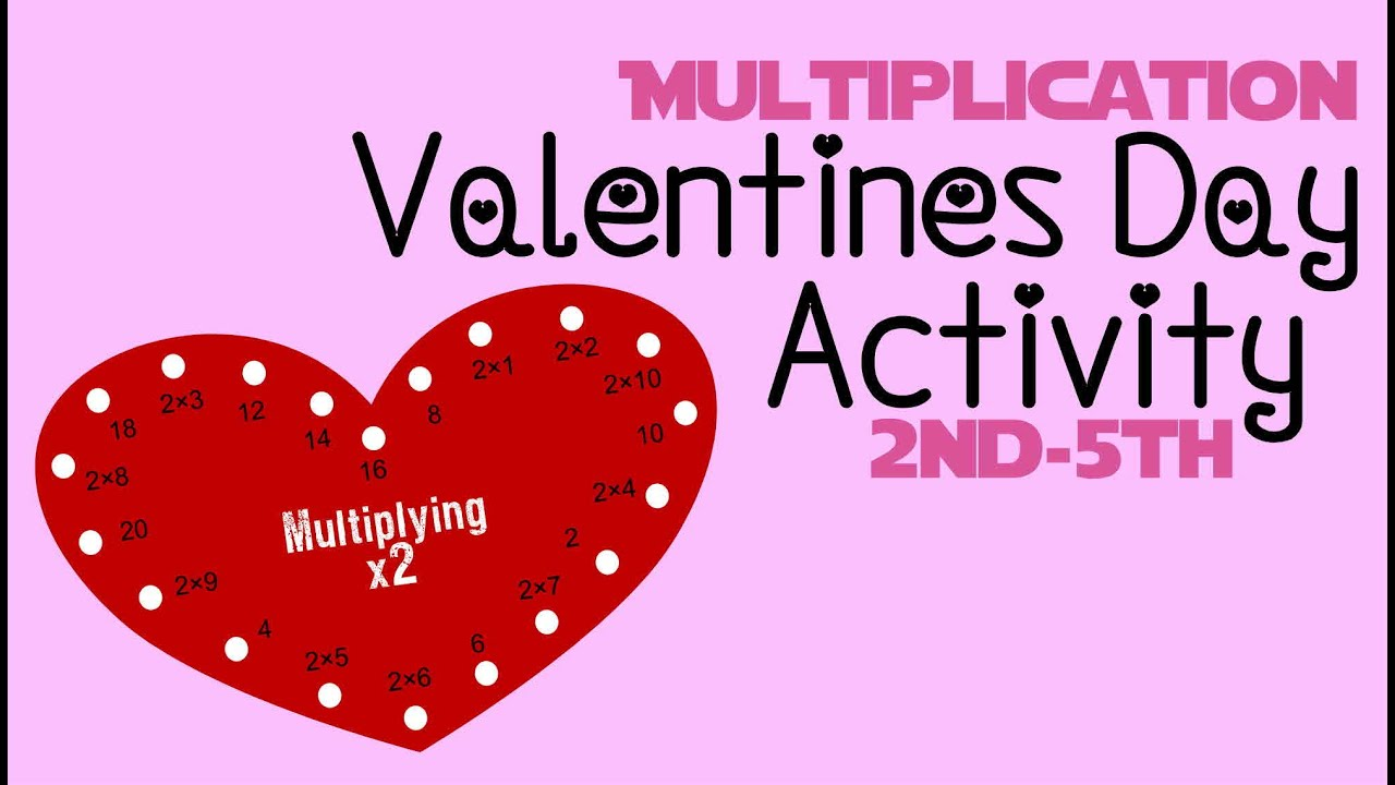 Valentines Day Multiplication Lacing