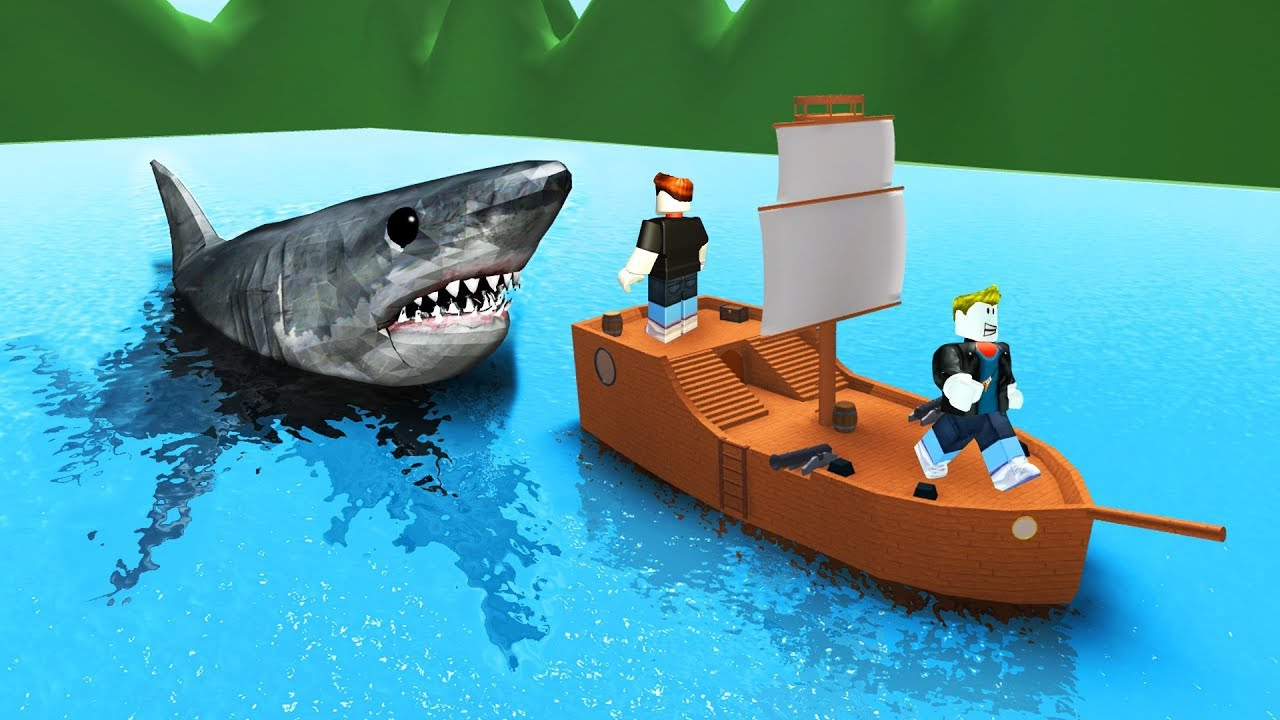 Crazy Survive The Shark Attack Roblox Youtube
