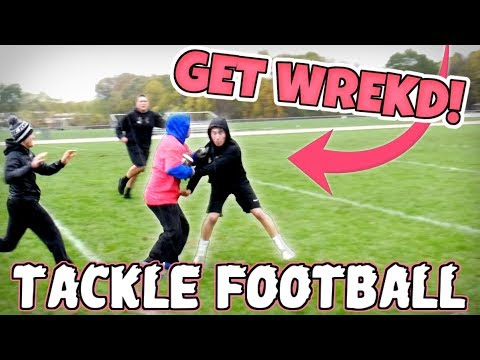Thumbnail: WORLD'S MOST ENTERTAINING BACK YARD TACKLE FOOTBALL GAME!! (IRL FOOTBALL MATCH)