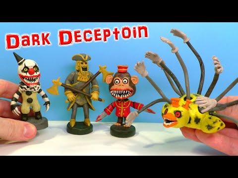 Лепим Клоуна Гремлина, Золотого Стража и Утку Босса  из игры Dark Deception | Видео Лепка