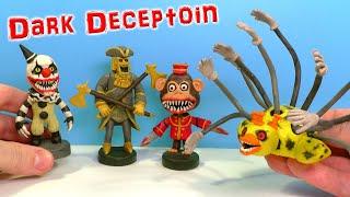 Фото Лепим Клоуна Гремлина Золотого Стража и Утку Босса  из игры Dark Deception  Видео Лепка