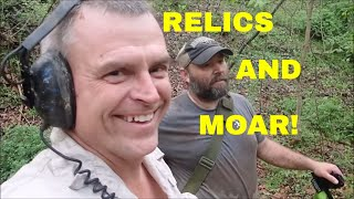Metal Detecting A New Home Site In The Woods