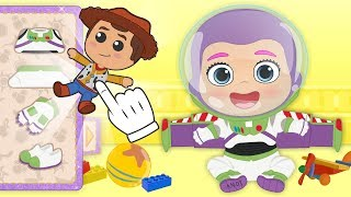 BABY LILY 💥 Dresses up as Toy Story's Buzz Lightyear | Cartoons for Kids