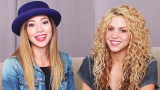 One of CloudyApples's most viewed videos: Reacting with Shakira to Her Old Videos!