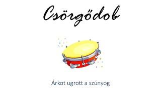 Hangszer ovi - Árkot ugrott a szúnyog (csörgődob) / Hungarian children song (cat, cow, dog, animal)