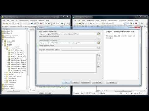 ArcGIS - Coordinate systems #3 - Projecting