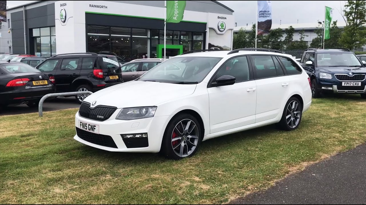 ŠKODA Octavia Estate vRS in Candy White 2015 (15 Reg) (HD ...