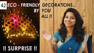 42 Eco friendly brick decorations by you 2018 गणपति सजावट डेकोरेशन Ask Iosis Hindi