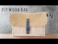 DIY Wood Handbag with Detachable Leather Flap and Straps