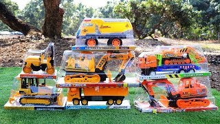 Construction Vehicles Toy Unboxing - Excavator , Wheel loader , Dump Truck , Road roller , Bulldozer