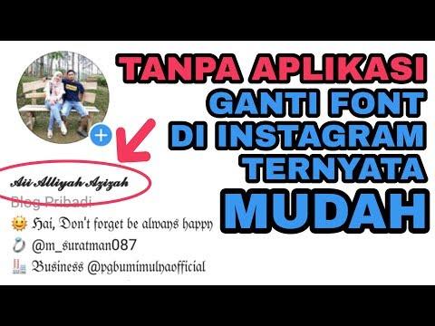 CARA MUDAH GANTI FONT INSTAGRAM TANPA APLIKASI