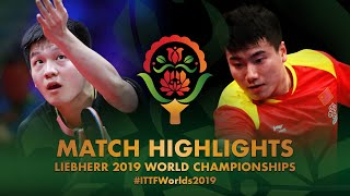 Fan Zhendong vs Liang Jingkun | 2019 World Championships Highlights (R16)