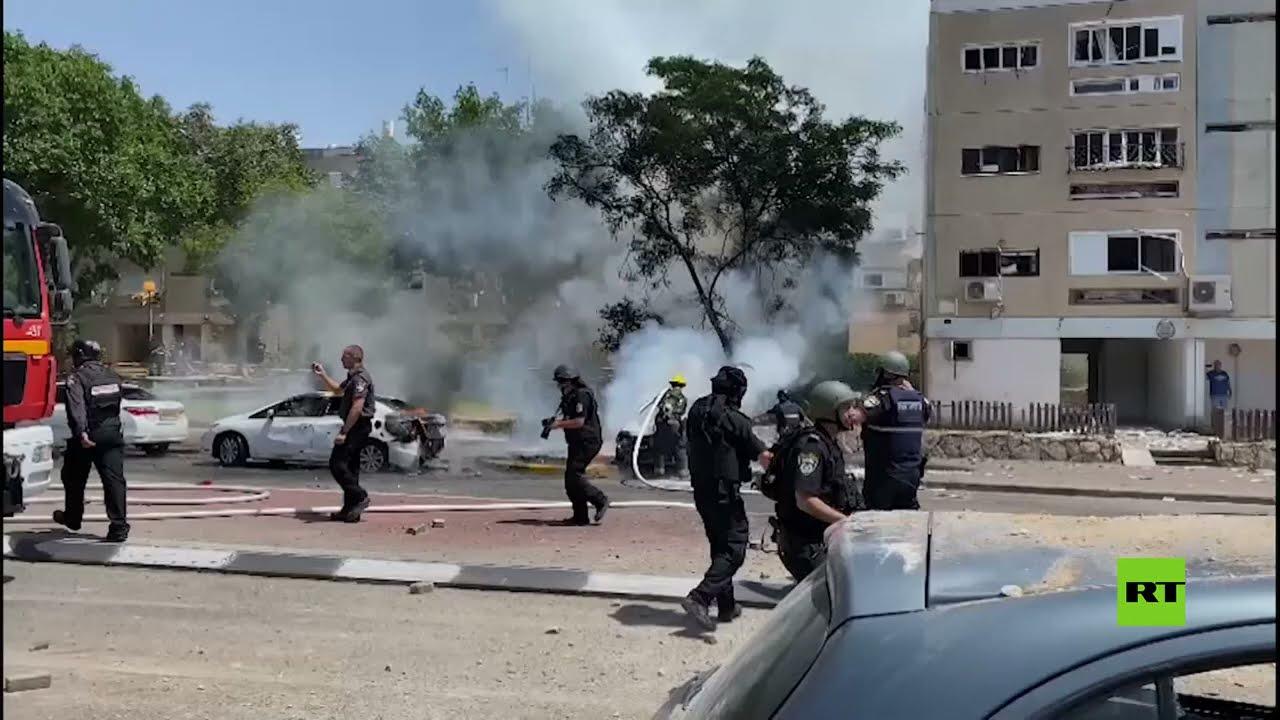 دمار وفوضى في مدينتين إسرائيليتين جراء القصف الفلسطيني  - نشر قبل 3 ساعة