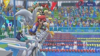 Mario & Sonic at the Rio 2016 Olympic Games Gameplay Part 3 - 100m & Boxing (Wii U)