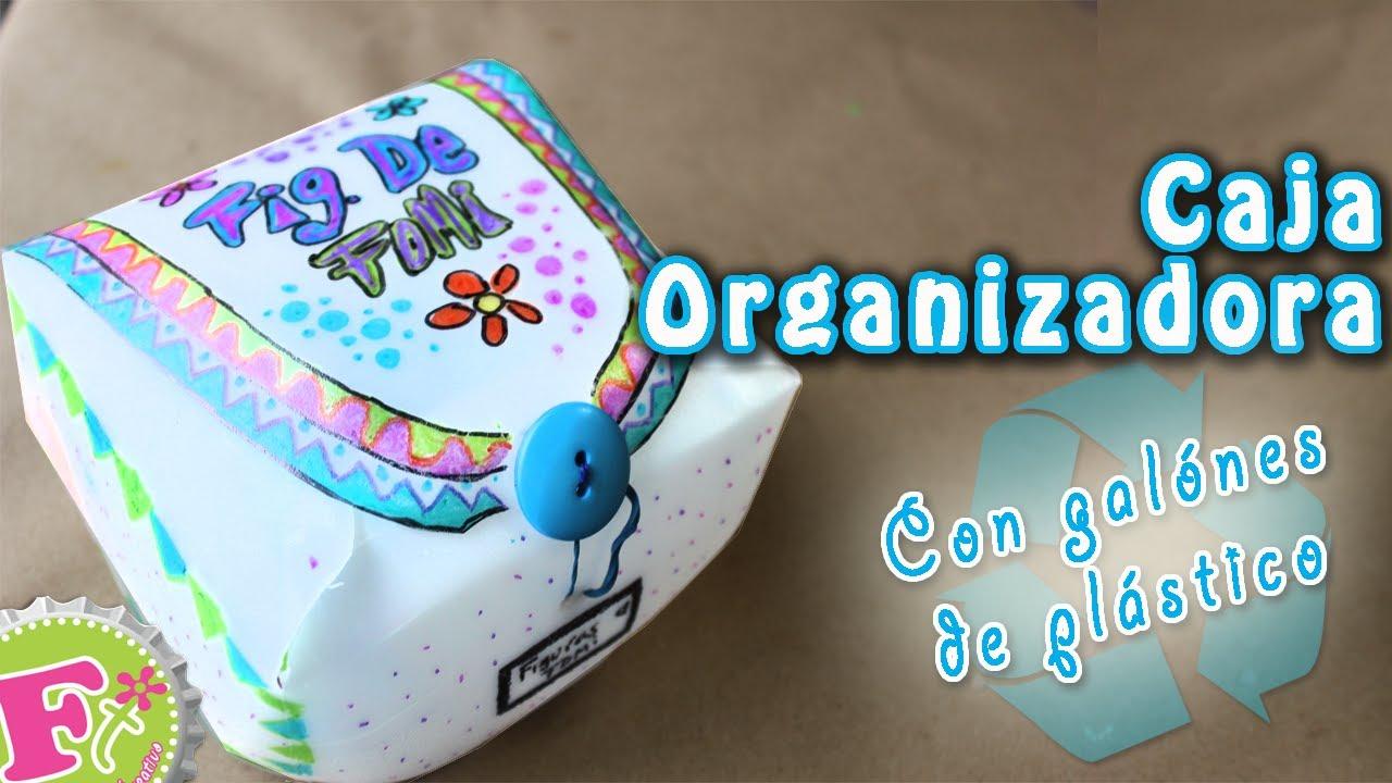 Diy cajas organizadoras reutilizando galones de pl stico - Cajas de plastico ...
